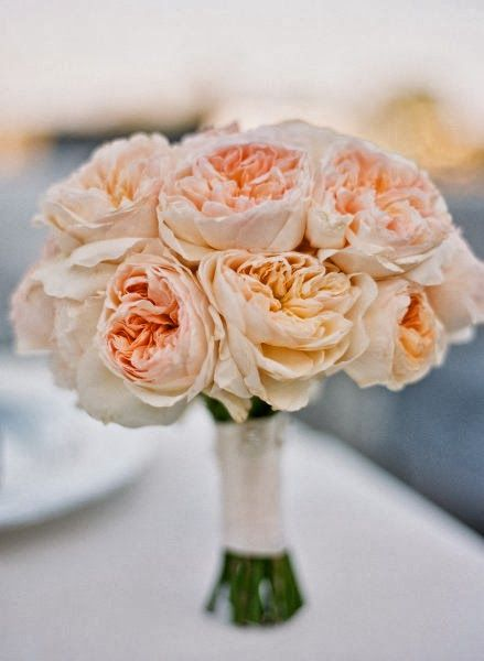 Juliet garden rose bouquet - if peony's aren't in season, garden rose will do ;)