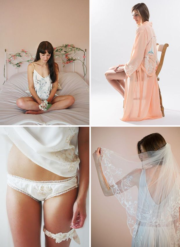 Daisy Sheldon Veils Garters and wedding embroidery  | See more wedding inspiration on www.onefabday.com