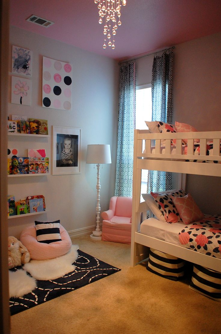 Alexis Harlow Interiors//Shared Room//Pink & Navy