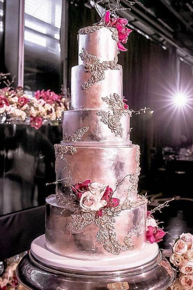metallische Hochzeitstorte einzigartiger silberner Kuchen inlightenphotography   – Wedding 2020