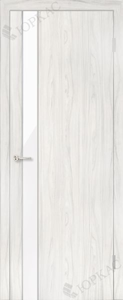 Дверь Лотос, белый дуб, Лакобель оптом Минск - Двери МДФ серии Техно - межкомнатные двери для вашей квартиры или дома - Каталог