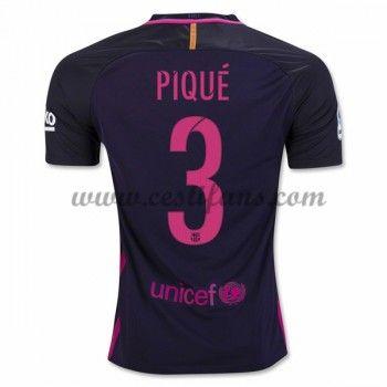 Barcelona Fotbalové Dresy 2016-17 Pique 3 Venkovní Dres