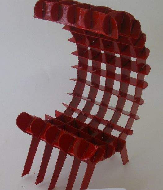 Scale 1:5 chair created by student using the SketchChair program