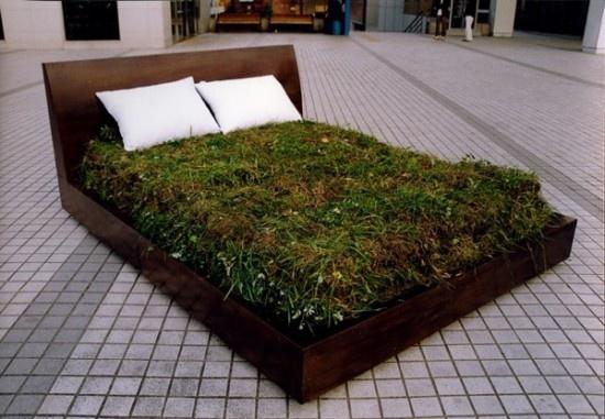 Myeongbeom Kim, Myeong Beom, Green Beds, Dreams, Gardens, Grass Beds, Flower Beds, Installations Art, Nature Beds
