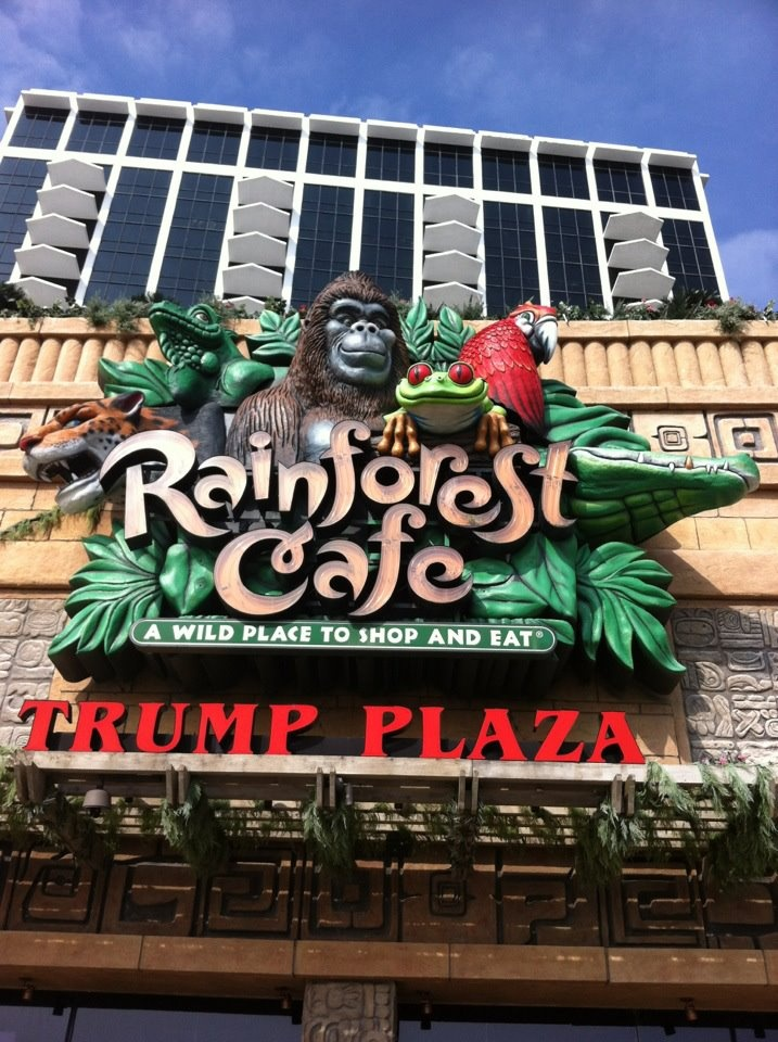 Rainforest cafe atlantic city nj my new jersey past for Atlantic city romantic restaurants