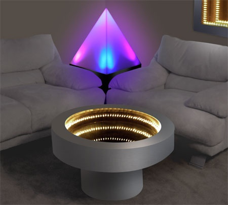 Infinity Mirror Wall Displays And Infinity Mirror Tables Home Design Pinterest Infinity