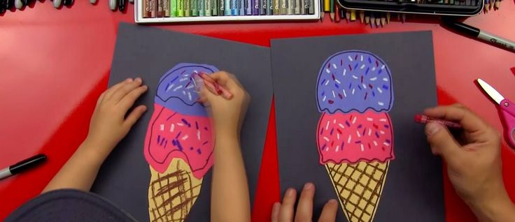 How To Draw An Ice Cream Cone - Art for Kids Hub