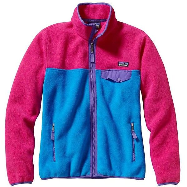 Patagonia Women's Full Zip Snap-T Jacket ($92) ❤ liked on Polyvore featuring activewear, activewear jackets, andes blue, patagonia, women activewear, columbia sportswear and patagonia sportswear