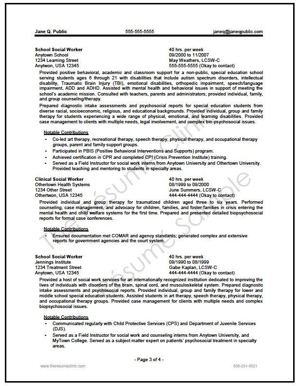 Federal Social Worker Resume Writer Sample Licensed