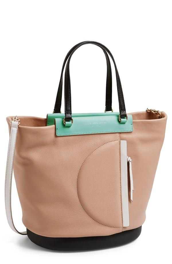 Love the hint of mint on this Marc by Marc Jacobs tote.
