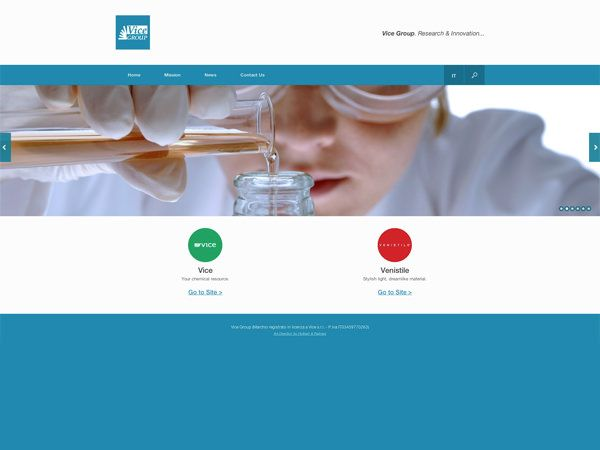 immagine homepage nuovo sito Vice Group by Holbein & Partners web agency.