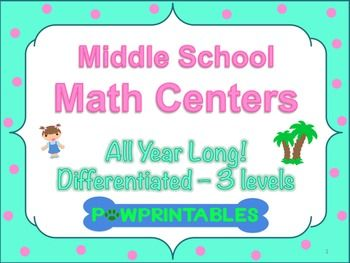 This file contains one math center for every day of the school year! With this product, you get center rotation schedules, an organization chart for grouping students, and ready to print centers that are differentiated to meet the needs of every student.