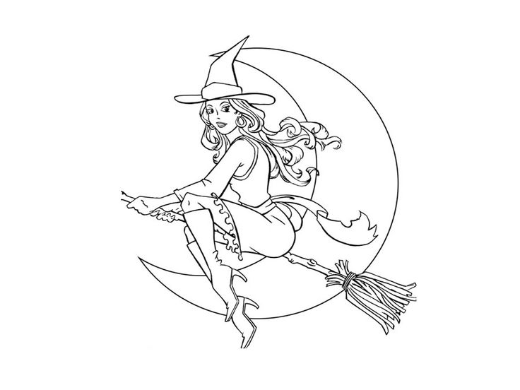 272 best Witch coloring images on Pinterest | Coloring books ...
