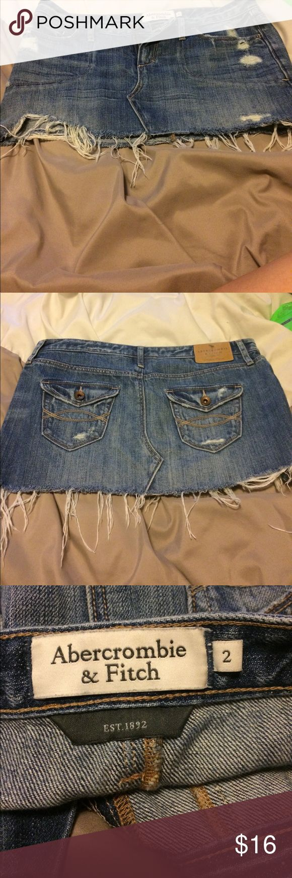 Blue denim skirt Gently worn, great condition Abercrombie & Fitch Skirts Mini