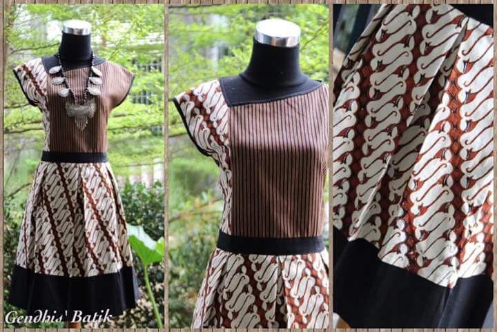 Detail batik combination by batik gendhis