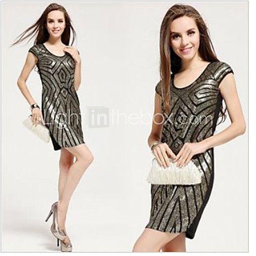 vrouwen luxe pailletten geometrische sexy schede jurk   LightInTheBox