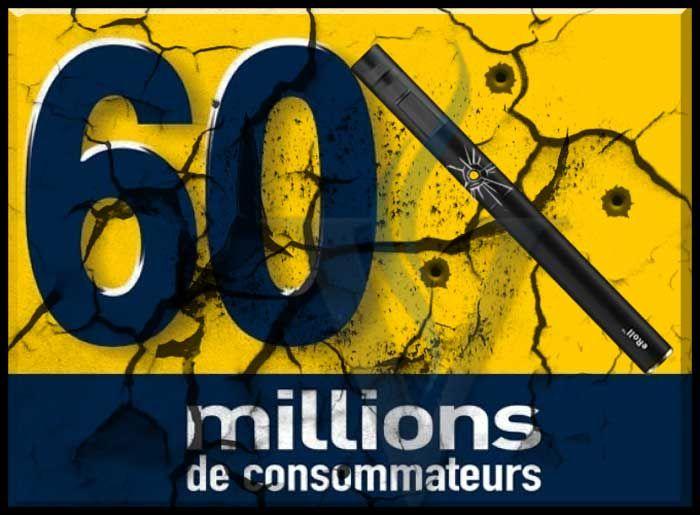 Etude scientifique de 60 millions de consommateurs sur la cigarette électronique. http://vecig.fr/etudes/cigarette-electronique-60-millions-de-consommateurs/
