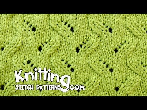 Alternating Leaf | Lace Knitting #16 - YouTube