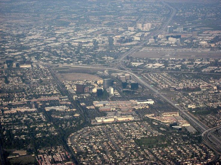 Aerial view of central Orange County overlooking South Coast Metro, John Wayne Airport, and the Irvine business district - Orange County, California - Wikipedia, the free encyclopedia