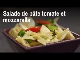 Recette de salade de pâtes aux tomates et à la mozzarella