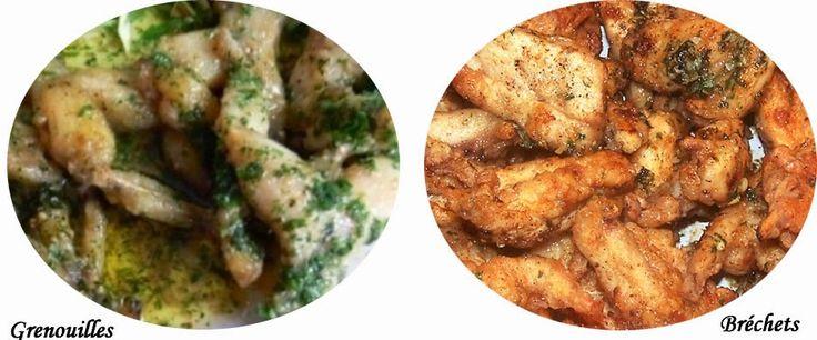 Recette de cuisses de grenouilles en persillade, les bréchets, la manière de manger les grenouilles dans la Drôme, dans l'Ain et en Alsace