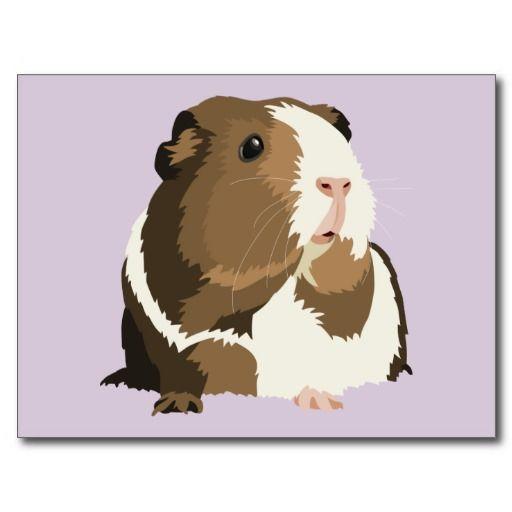 Retro Guinea Pig 'Betty' Postcard www.zazzle.com/popcornprints*/