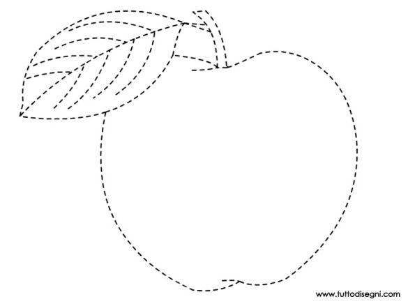mela-tratteggio