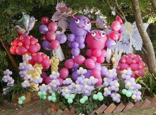 una espectacular decoracion con globos