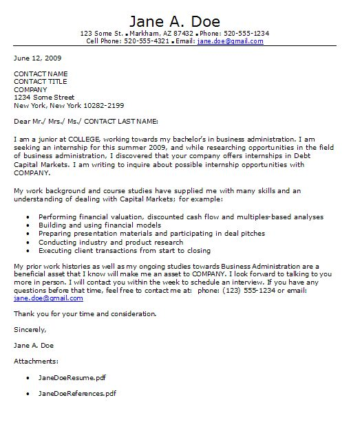 The 25+ best Depaul email ideas on Pinterest Philadelphia - sample internship cover letter example