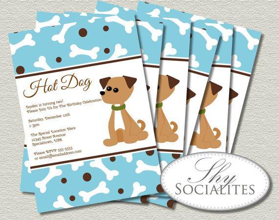 11 best dog birthday party invitations images on pinterest, Birthday invitations