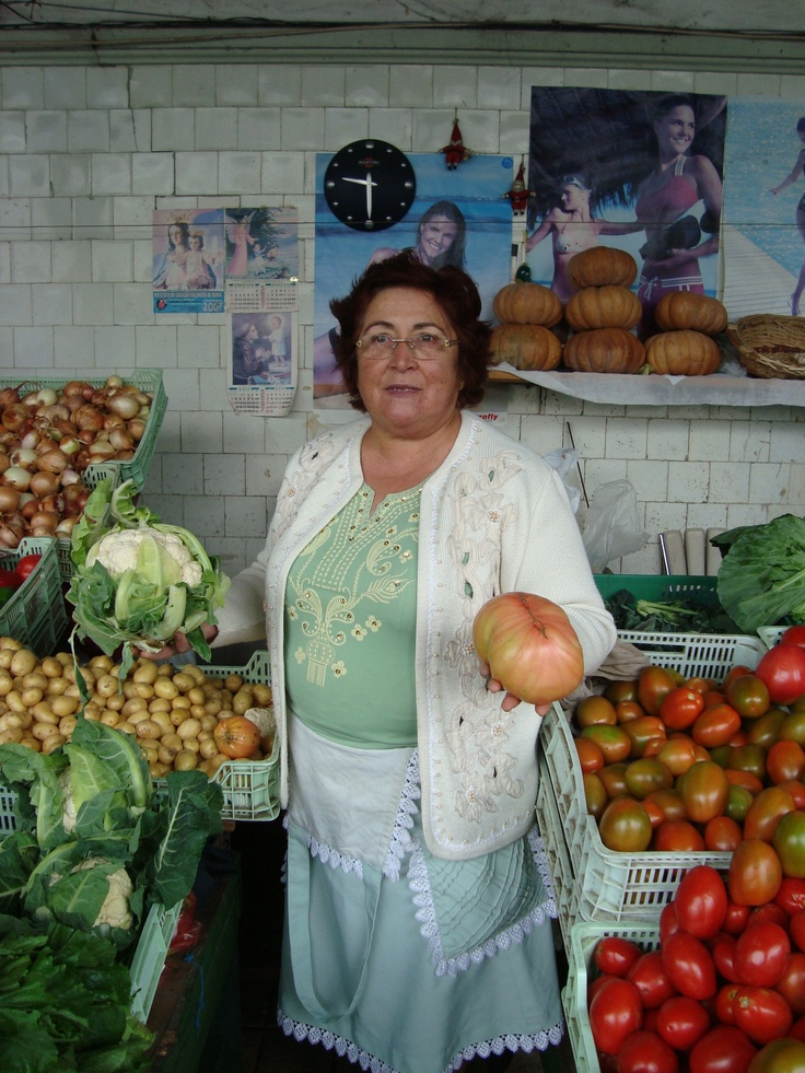 One of the sellers at Bolhão Market.