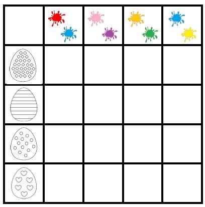 Pobierz bezpłatną kartę pracy dla przedszkolaków do łączenia cech opartą na założeniach metody krakowskiej. Rozwijaj u dziecka percepcję wzrokową i logiczne myslenie. Poszukiwanie pisanek to świetna woelkanocna zabawa dla dzieci.