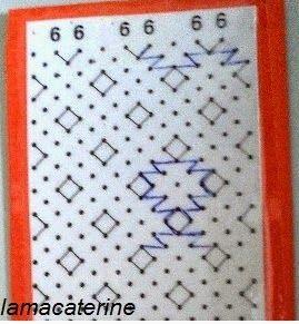 Las Labores y Manualidades de Caterine: Bolillos: Como hacer el punto de mosaico