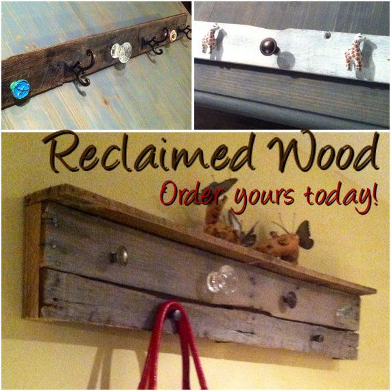 Custom made Reclaimed Wood Coat Racks Hat Racks & Jewelry Racks by WeChicdIt I'm currently making holiday stocking holders for those that don't have a mantle or don't want to damage their mantle. Order yours today!