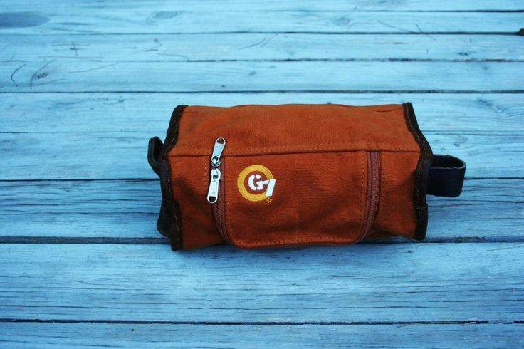 G7utility.com canvas & leather Wash-bag - Burnt Orange