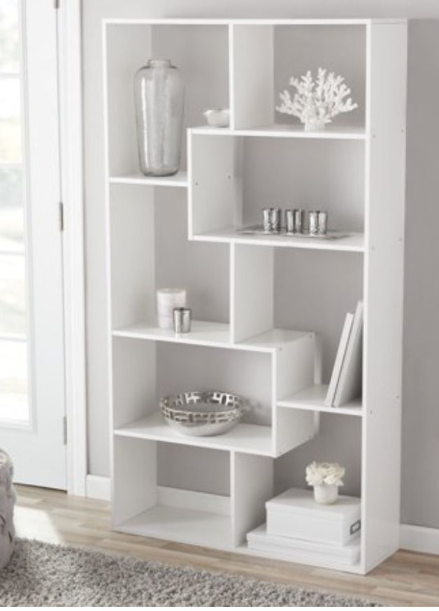 Tall Bookcase Cubby Large Open Shelf Modern Cube 8 Shelf Display New White Mainstays In 2020 Modern Shelving Shelves Tall Bookcases