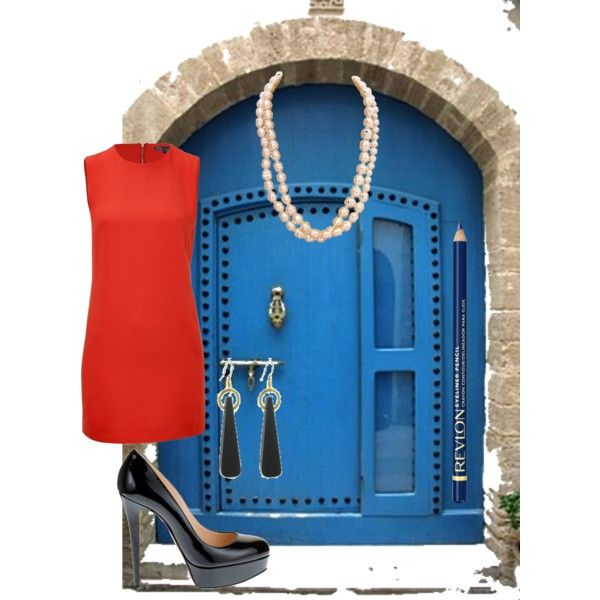 Mrs Doorbell by kikajit on Polyvore featuring Vince, Christian Louboutin, Chanel, Manumit and Revlon