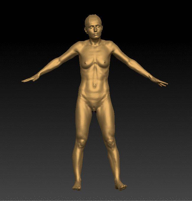 Debbie Nude Full Body 3D Scan