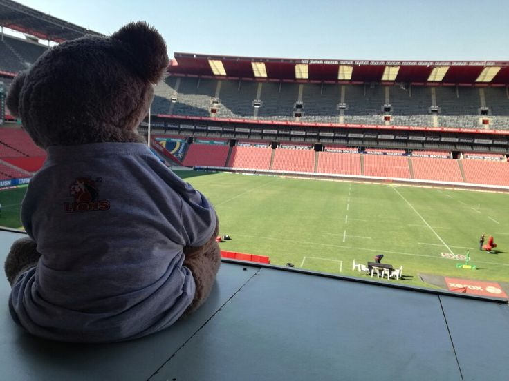 Love watching some Friday rugby from the media suite!  #LeyaTheLion ##Liontainment #BeThere #Lions4Life #EmiratesLions #XeroxGoldenLions #Johannesburg #Home #Stadium #Sport #Red #White #Support