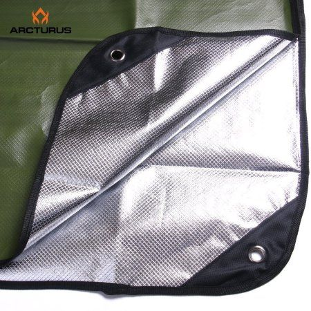 """Arcturus All Weather Outdoor Survival Blanket 60"""" x 82"""" (Olive Green)"""