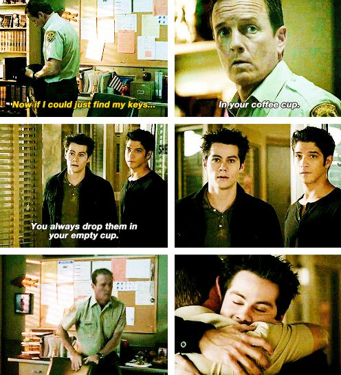 people often overlook this scene because of Allison's death which was huge, but this was also a touching scene and almost feels like it brought us back to the originial Stiles. #TeenWolf #3x23 #Insatiable