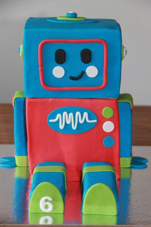 3D taarten - Koning Kikker Robot cake
