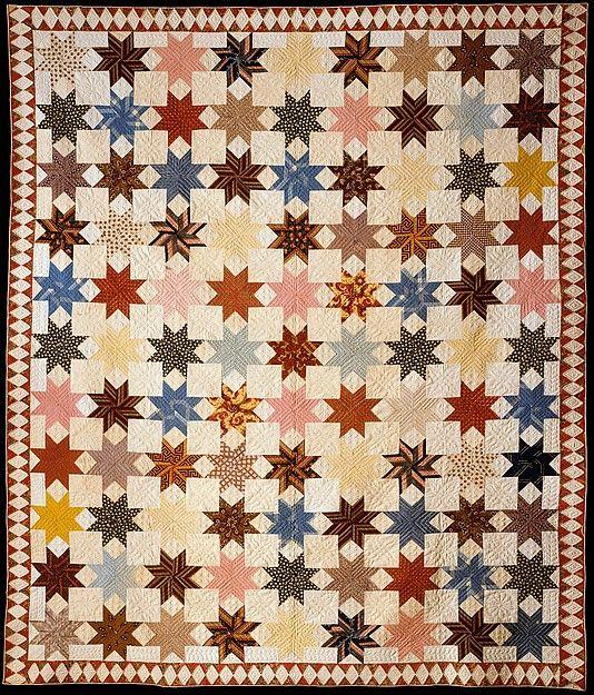Star of Lemoyne Quilt Maker: Rebecca Davis Date: ca. 1846 Geography: United States Culture: American Medium: Cotton Dimensions: 80 x 94 in. (203.2 x 238.8 cm) Classification: Textiles