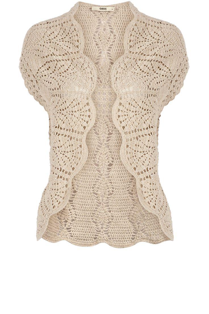.pretty crochet/lace cardigan