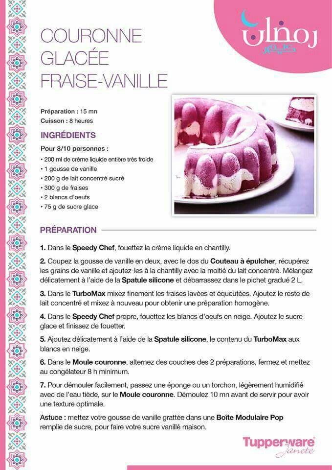Couronne Glacée Fraise - Vanille Tupperware
