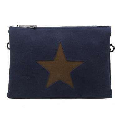 DAMEN 3xFACH CLUTCH STERN HAND-TASCHE Schultertasche Leder Optik Stofftasche BAG… – Italyshop24.com