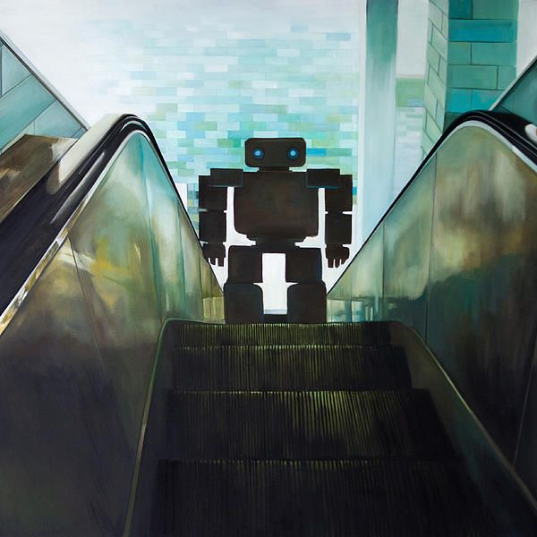 Paranoid Android  Painting by Shane  Sutton