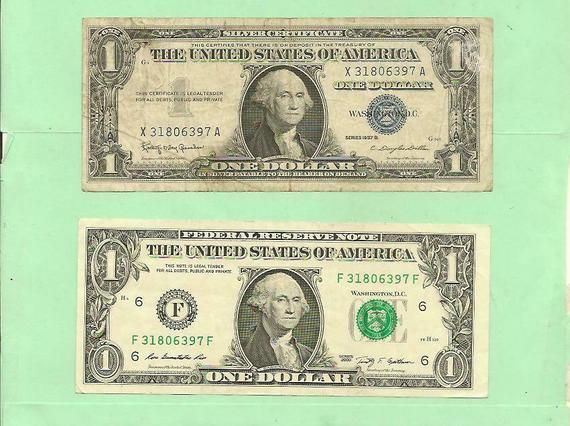 2 Us Dollar Bills With Identical Matching Serial Numbers Free Etsy Us Dollars Dollar Bill Dollar