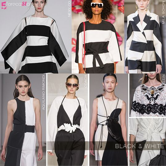 Monochromatic black and white at MILAN SS18 @5forecastore trend report