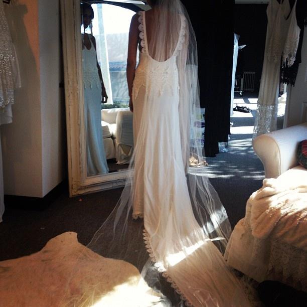 A custom stone cold fox wedding dress for Stone cold fox wedding dress
